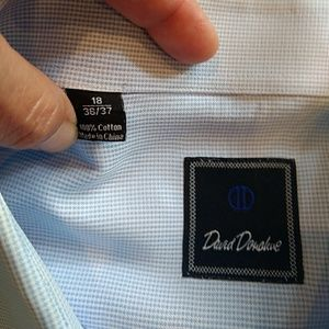 David Donahue Shirts - David Donahue Mens Dress Shirt